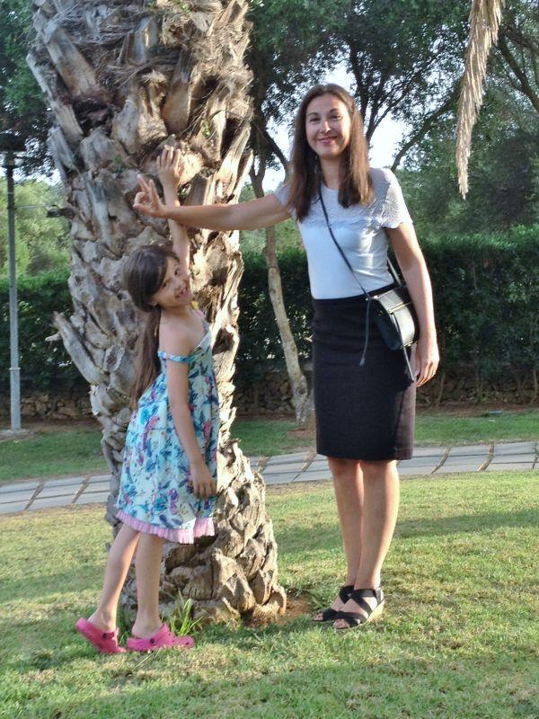 Mamma och Sofia.